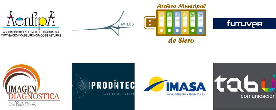 Imagen con los logos de los finalistas del premio evolución 2016